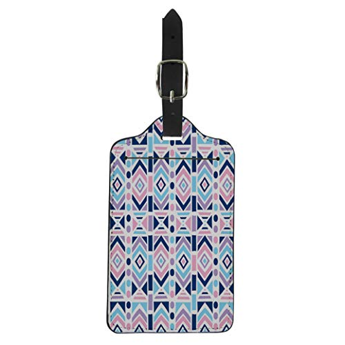 Pinbeam Luggage Tag Colorful Summer Aztec Pattern American Cute Drawn Eskimo Suitcase Baggage -