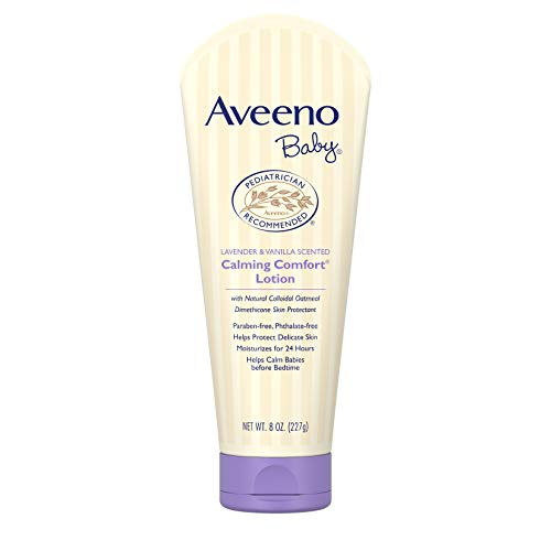Aveeno Baby Calming Comfort Moisturizing Lotion with Lavender, Vanilla and Natural Oatmeal, 8 fl. oz