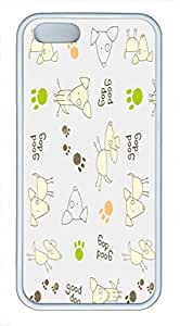 Comfortable & Beautiful Patterns Apple Iphone 5S Dog Paws Print And Bone Case Skin Cover,TPU Rubber Soft Back Cover For Iphone 5S Rubber