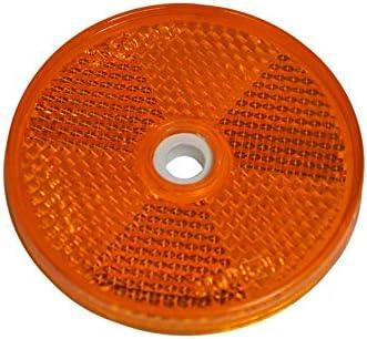MBM MB-m 904305 Lot de 10 r/éflecteurs Ronds /à Visser avec marquage E pour remorque Gauche et Droite Orange 60 mm