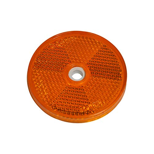 Reflektor Rund 60mm gelb zum Schrauben mit E-Pr/üfzeichen f/ür Anh/änger Pritsche Links rechts Katzenauge orange mb-m 904305 10er Set R/ückstrahler Seitenstrahler