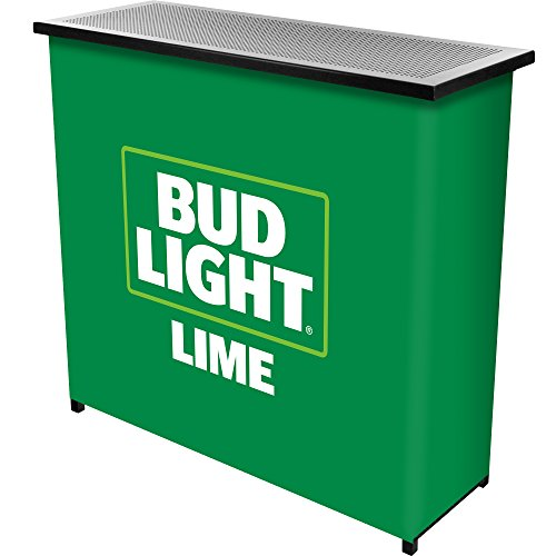 Bud Light Lime Two Shelf Portable Bar with Case