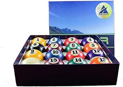 Bolas de Bolas Bolas numeradas para Billar Pool r5505 Juego de 16 Bolas Papel Meteor 57,2 mm: Amazon.es: Deportes y aire libre