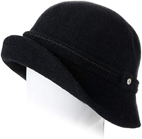 Whiteley Fischer C10 Ladies Wax Cotton Cloche Hat with corduroy trim