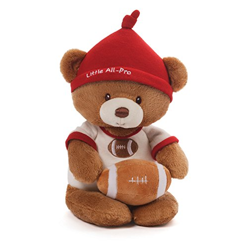 GUND Baby Teddy Bear and Rattle, Little All Pro Football