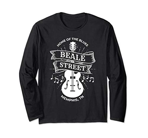 (Long Sleeve Memphis Beale Street Shirt TN Blues Music Gift )
