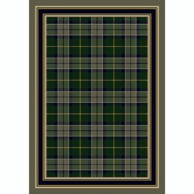 Milliken Design Center Magee Plaid Emerald Rug Runner 2'4