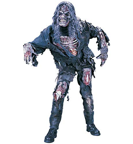 FunWorld Men's Complete 3D Zombie Costume, Grey, One Size -