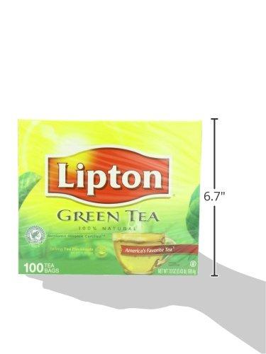 Tea Samplers Lipton Green Tea 100 Percent Natural 100 Ct