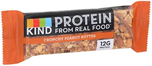 KIND Protein Bar, Crunchy Peanut Butter, Gluten Free, 1.76 Ounce Bar