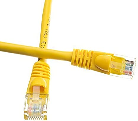 Pack of 5 Snagless//Molded Boot ED693572 Cat5e Ethernet Patch Cable 2 Feet Yellow