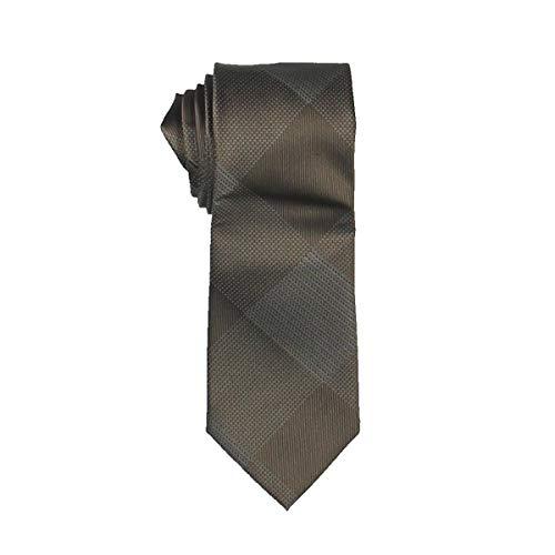 Sean John Mens Hidden Grid Silk Checkered Neck Tie Taupe O/S
