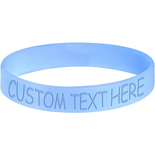 Body Candy Customizable Light Blue Silicone Style 2