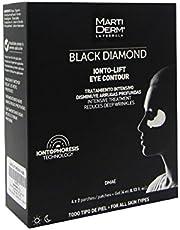 MARTIDERM Black Diamond Ionto-Lift Tratamiento intensivo disminute arrugas profundas, 4 x 2 parches (4 ml)