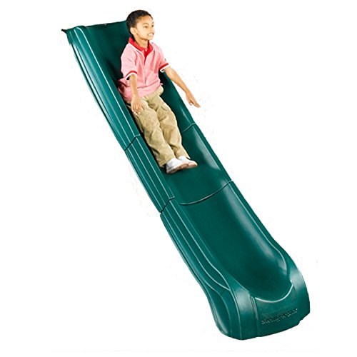 Swing-N-Slide NE 4699-T Super Summit Slide 3 Piece Plastic Scoop Slide for 5' Decks with, Green (Gym Deck)