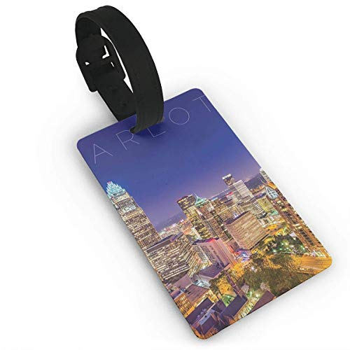 - Kuytresdf Luggage Tags Charlotte - Travel ID Labels Tag for Baggage Suitcases Bags Size 2.2 X 3.7 inches