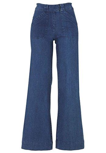 Plus Wide Leg Jeans (Ellos Women's Plus Size High-Waist Wide Leg Jeans Stonewash,20)