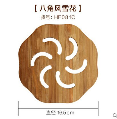 Generic Bamboo placemat heat insulation pad bamboo coasters dining table mat plate pad circle coasters pot holder bowl pad 2 by Generic
