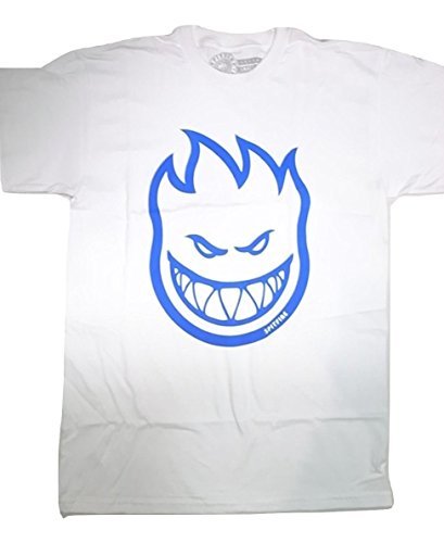 Spitfire Skateboard Wheels Bighead T-Shirt - White/Royal (Medium)