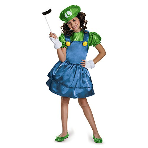 Easy Luigi Costume (Luigi Skirt Version Costume, Large (10-12))