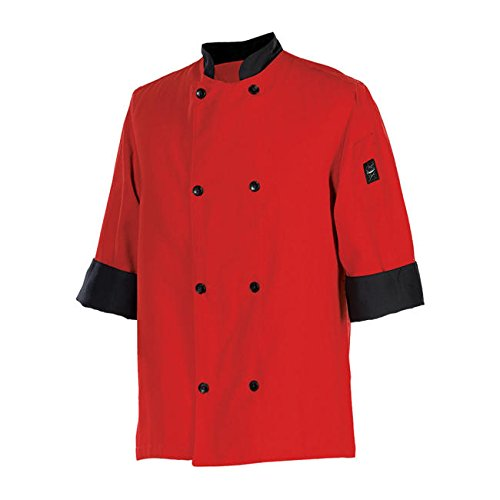 Chef Revival® Crew Fresh Jacket Tomato Red S by Chef Revival