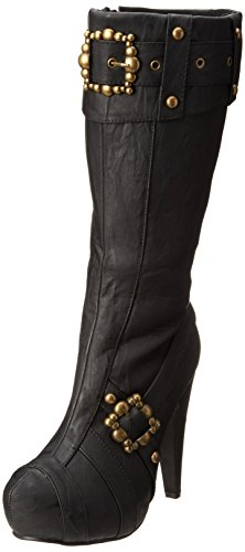 Ellie Shoes Women's 426 Aubrey Boot, Black Polyurethane, 7 M US ()