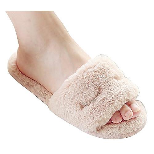 d10757c2c 30%OFF Blubi Women s Cute Plush Slippers Comfy Bedroom Slippers ...