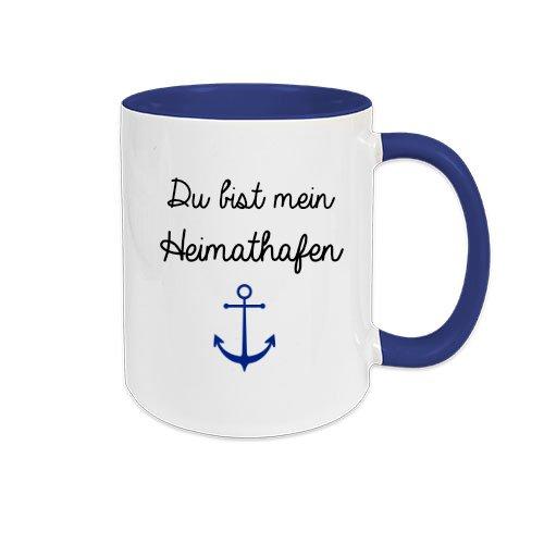 Du Bist Mein Heimathafen I Tasse Mit Spruch I Grosse Kaffeetasse I
