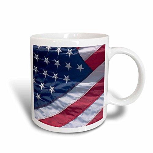 3dRose American Flag US48 SAV0078 Savanah Stewart Ceramic Mug, 15-Ounce