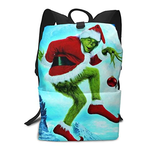 PSnsnX The Grinch Stole Christmas Kids Lightweight Travel Backpacks School Book Bag -
