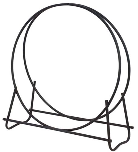 Uniflame, W-1889, Black Finish 48 in. Diameter Tubular Log (Tubular Log Rack)