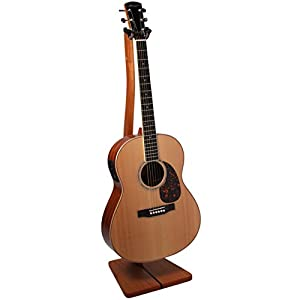 So There Wooden Guitar Stand - Handcrafted Solid Mahogany Wood Floor Stands Best for Acoustic, Electric and Classical Guitars, Made in USA from So There