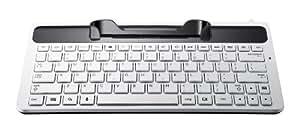 Samsung ECR-K18UWE - Teclados para móviles (Color blanco, SAMSUNG Galaxy Tab 7.7, QWERTY, 610g, Alámbrico, Docking connector)