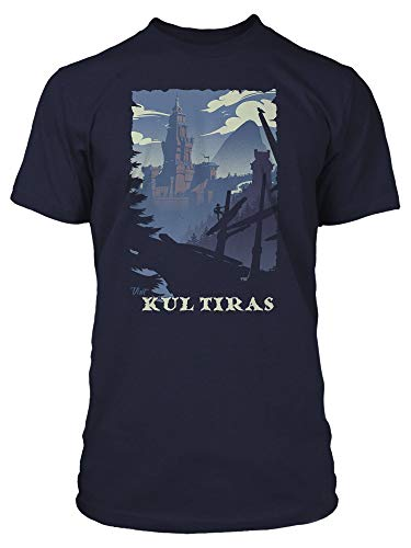 JINX World of Warcraft Visit Kul Tiras Men's Gamer Tee Shirt