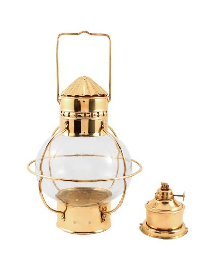 Nautical Oil Lamps - Brass Onion Lantern 10'' by Vermont Lanterns