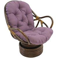 International Caravan 3310-TW-GP-IC Furniture Piece Swivel Rocker with Twill Cushion
