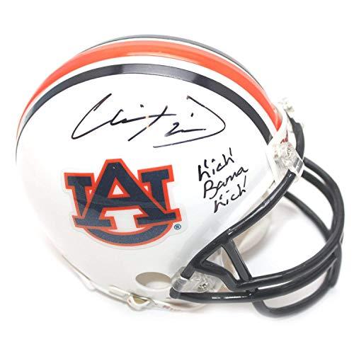 Chris Davis Autographed Signed Auburn Tigers Mini Helmet - Kick Bama Kick Inscription - Certified Authentic Autographed Auburn Mini Helmet