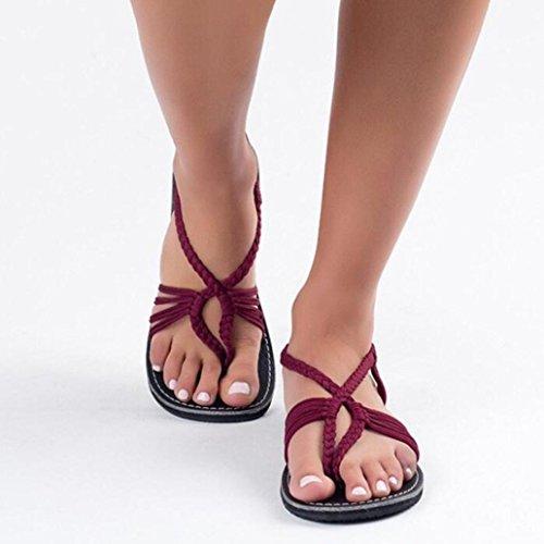 Femmes Gris 42 Plates 41 39 Chaussures 40 Tongs 38 Chaussures 43 Mode 35 croisées d'été Chaussures 36 Escarpins Sangles Bleu Sandales C Noir Vin 37 Pantoufles Pantoufles Sandales Plage TwFtF