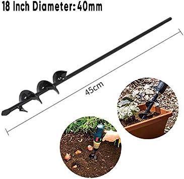Broca espiral para plantación de 18 pulgadas para jardín, patio, tierra, kit de maceta: Amazon.es: Bricolaje y herramientas