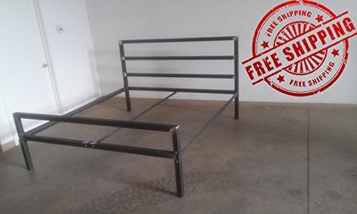 Tall Headboard Style Metal Bed Frame - Twin/Full/Queen/King (Custom Frames Metal Bed)