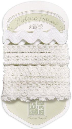 Melissa Frances 5-Style Craft Lace Trim, 18-Inch, White.