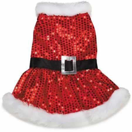- Zack & Zoey Mrs. Claus Sequin Dress for Dogs, 10