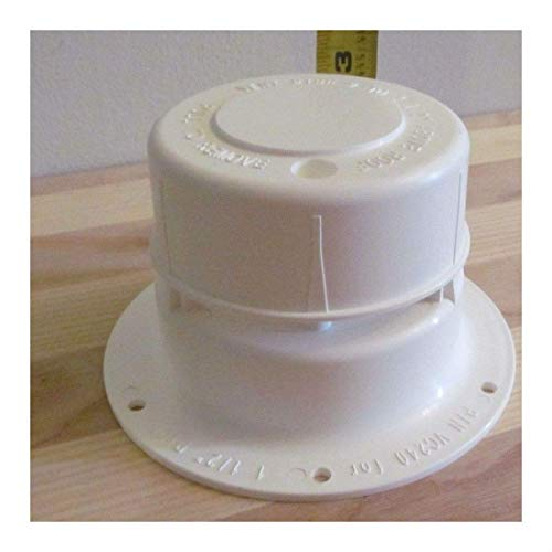 Vent Pipe Caps - White Plastic Sewer Vent Cap for 1 1/2