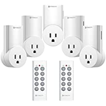 Etekcity Upgraded Version Wireless Remote Control Electrical Outlet Switch Compatible with Classic Version White 5LX S