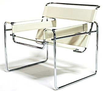 Amazon Com Marcel Breuer Wassily Style Chair White Leather
