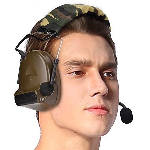 Zer one COMTAC II Noise Reduction Earphones Silicone Earmuff Headset Tactics w/ U94 PTT Walkie Talkie Headset K Head from Zer one