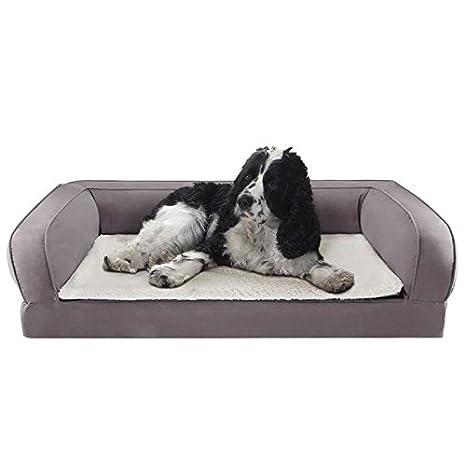 Colchoneta para perros cama ortopédica para perros con Memory Foam Che dando y aliviar Riposo, ideal también para perros mayores, con borde alto, ...