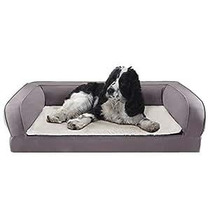 Colchoneta para perros cama ortopédica para perros con Memory Foam Che dando y aliviar Riposo, ...