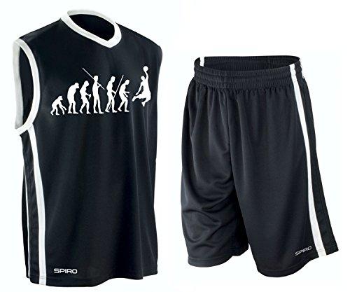 BASKETBALL - Evolution ! TRIKOT TANK mit Hose Shirt schwarz Gr.S