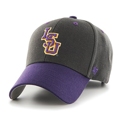 Hat Lsu Tigers Gear (NCAA Lsu Tigers Audible Two Tone MVP Hat, One Size, Charcoal)